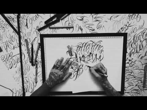 LETTERING TATTOO DESIGN TIME LAPSE