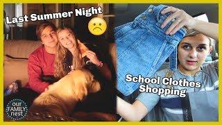 Last Summer Night & Last Minute School Clothes Shopping Haul