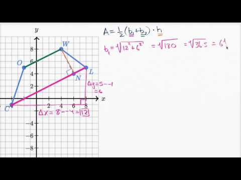 Area of trapezoid on the coordinate plane | High School Math | Khan Academy