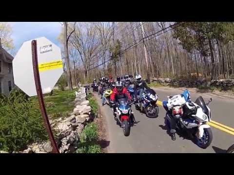 Motorcycle run in Connecticut
