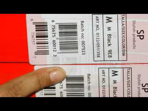 Easy procedure to design & print business barcode labels in linear or 2D