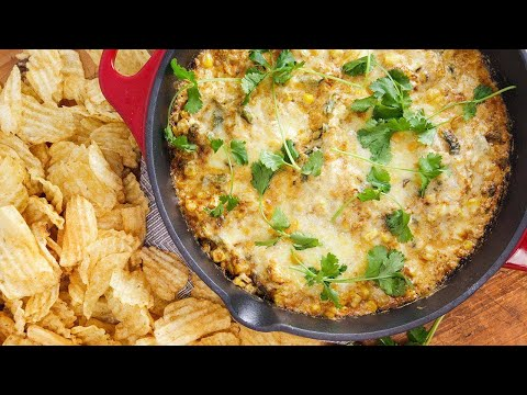 Grilled Corn and Poblano Dip