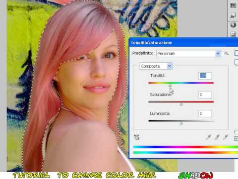 Tutorial Photoshop CS4 - How to change hair color