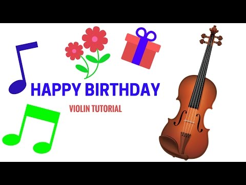 How To Play Happy Birthday On The Violin | Simple Tutorial for Beginners