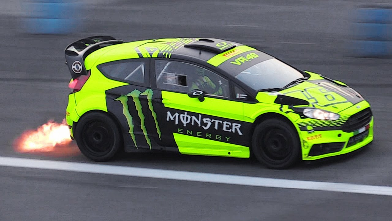 Valentino Rossi Driving a Ford Fiesta RS WRC at 2015 Monza Rally Show