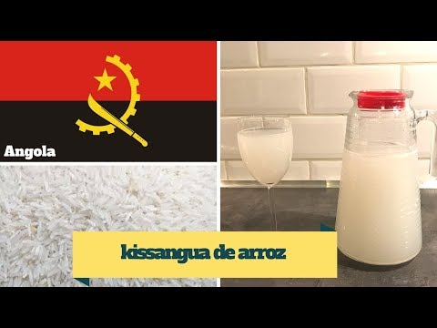 KISSANGUA DE ARROZ/ Angolan Fermented rice water (drink)