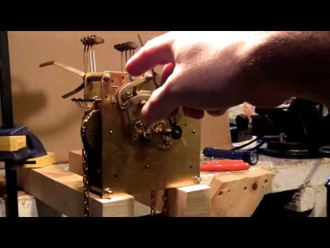 Grandfather clock mechanism, full cycle of chiming