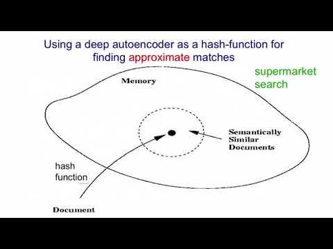 Lecture 15.4 — Semantic Hashing — [ Deep Learning | Geoffrey Hinton | UofT ]