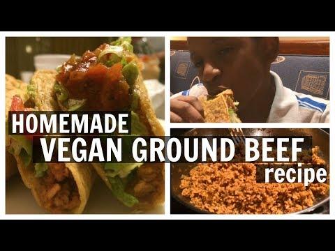 Homemade VEGAN GROUND BEEF recipe for tacos, burgers, etc!| DIY Vegan Taco Meat