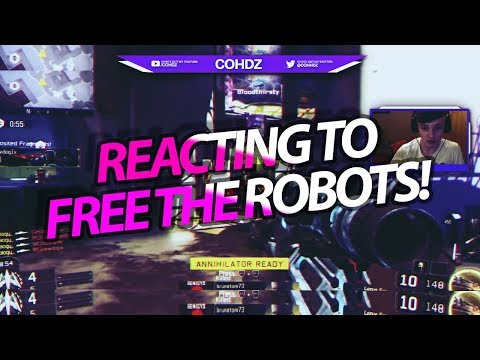 REACTING TO FREE THE ROBOT BY GEO (INSANE COD MONTAGE) @cohhdz