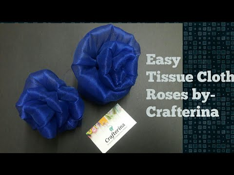 DIY Tissue fabric flower tutorial   Easy Flower making tutorial  best out of waste   Recycle