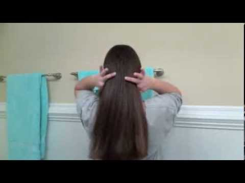 Easy How to cut your own hair straight across...