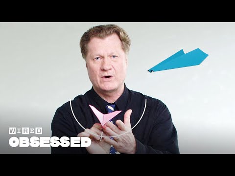 How This Guy Folds and Flies World Record Paper Airplanes | WIRED