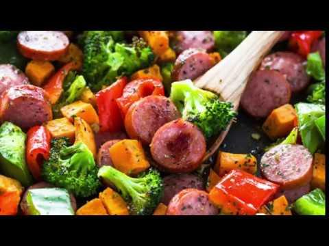 Healthy 20 Minute Sheet Pan Sausage and Veggies