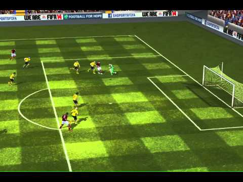 FIFA 14 iPad - side net glitch vs. Bor. Dortmund