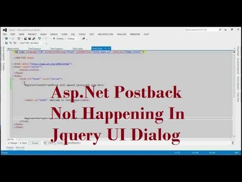 Asp Net Postback Not Happening In Jquery UI Dialog
