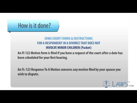 Form Approved Iowa Court Forms & Instructions for a Respondent in a Divorce