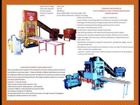 fly ash bricks manufacturing machine price