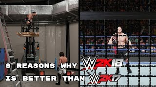 8 Reasons Why WWE 2K18 Is Better Than WWE 2K17