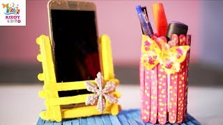 How To Make Mobile Stand With Icecream Sticks Videos 9videos Tv