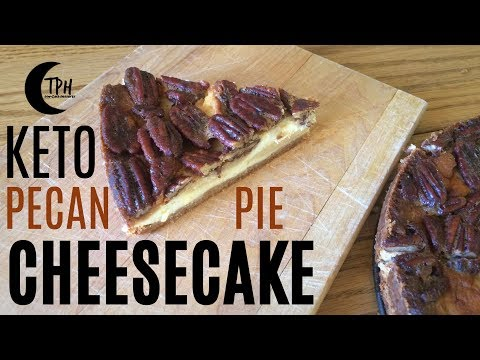 Keto Pecan Pie Cheesecake | Low-Carb Pecan Cheesecake Recipe