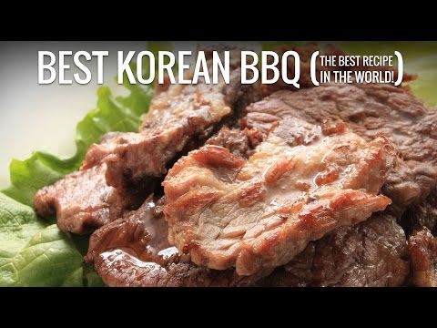 The Best Korean BBQ Recipe - Best Bulgogi Recipe - The Best Recipe in The World