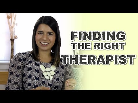 Finding The Right Therapist