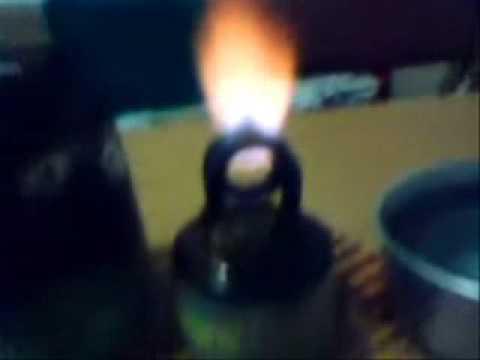 Homemade single jet alcohol stove