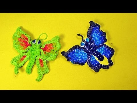 Rainbow Loom Charms Butterfly Tutorial