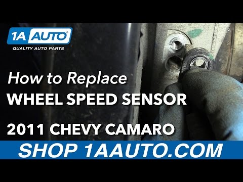 How to Install Replace Rear Wheel Speed Sensor 2011 Chevy Camaro