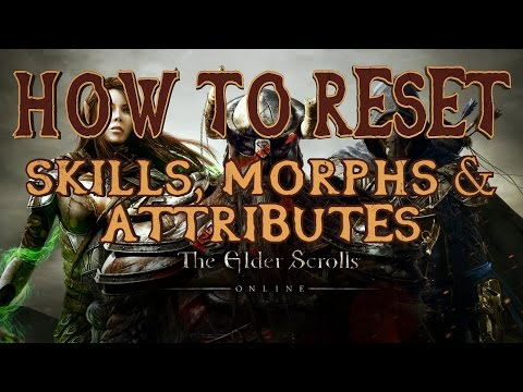 ESO | How to Reset your Skills, Morphs & Attributes | Respec | Eso Quick Tips 4 | PS4/Xbox