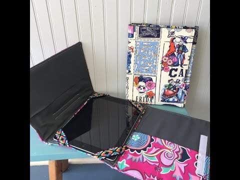 How to sew a Tri fold iPad Tablet Cover by Sewspire
