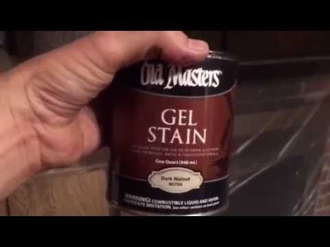 PAINTING STAIN PANELED WALLS AND RE-STAINING CABINETS DARK