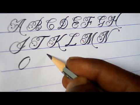 How to write english capital letters | fancy letter writing tutorials | mazic writer