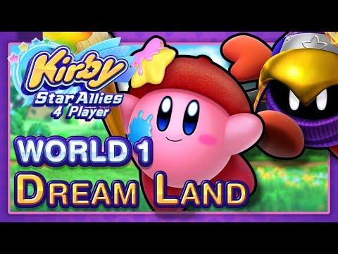 Kirby Star Allies: World 1 - Dream Land (4-Player)