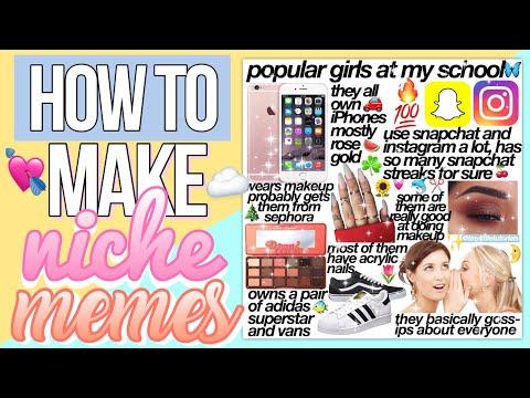HOW TO MAKE NICHE MEMES🥑
