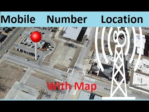 How to find the mobile number current location in map