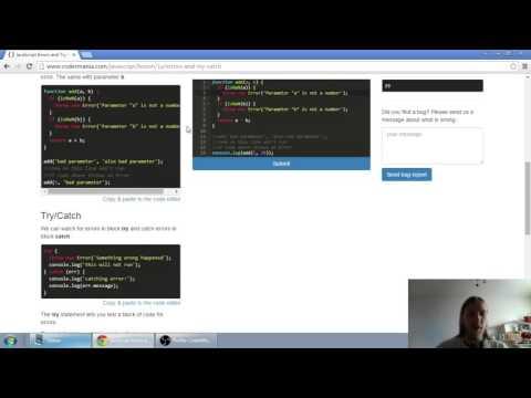 Web developerská škola, časť 30: JavaScript - Errory a Try Catch