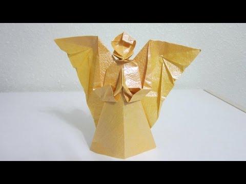 TUTORIAL - Origami Angel II aka Angel of Prayer (Creator: the late Mr Neal Elias)