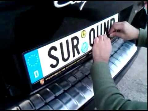 Audi Volkswagen VW BMW Mercedes Number Plate Surrounds