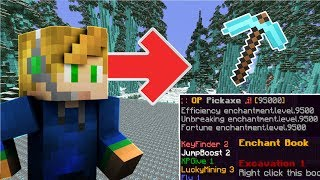 minecraft how to get efficiency 1000 pickaxe