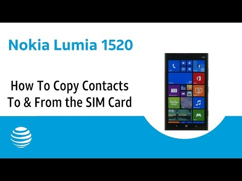 How To Copy Contacts To & From the SIM Card on a Nokia Lumia 1520