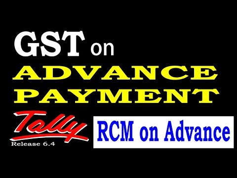 GST on Advance Payment Tally ERP 9 Part-85|GST Reverse Charge on Advance Payment in Tally