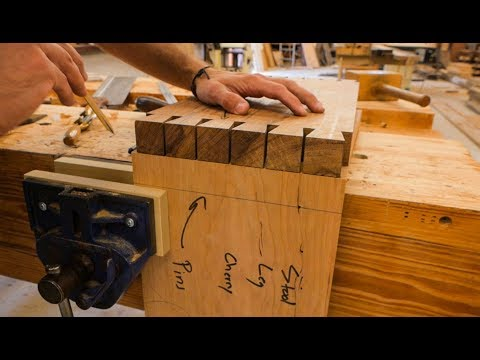 Making A Dovetailed Step Stool