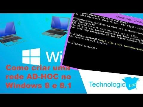TechnologicBox - Como criar uma rede AD-HOC no Windows 8 e 8.1