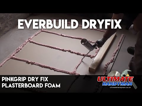 Pinkgrip dry fix plasterboard foam