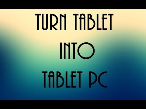 Turn your Tablet into Tablet PC (Remote and control Desktop)