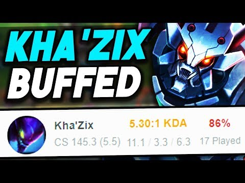 KHA'ZIX BUFFS ARE LIVE!! HOW TO 1v9 EVERY GAME, MAKE THE ENEMY FF 15 (League of Legends)