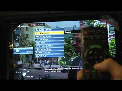how to re tune a 2011 panasonic tv.