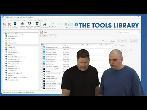 The Tools Library in PDQ Inventory